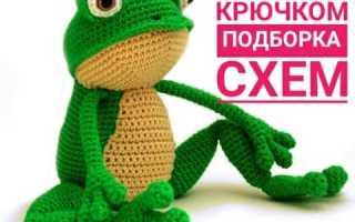 Связать лягушку крючком видео