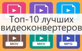 Программа видео конвертер скачать бесплатно русская версия