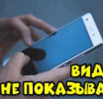 Нокиа не показывает видео