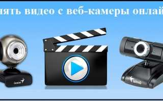 Снять видео онлайн с веб камеры