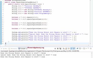 Java string equalsignorecase