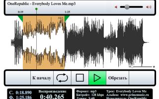 Онлайн нарезка музыки в mp3 бесплатная программа