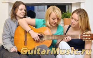 Уроки игры на акустической гитаре для начинающих