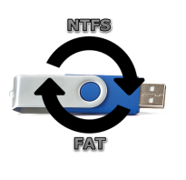 Как поменять флешку на ntfs