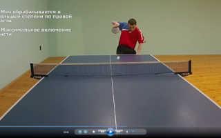 Уроки подачи в настольном теннисе