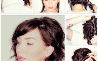 Прически на короткие волосы мастер класс видео
