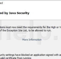 Java security exception