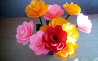 Мастер класс розы из бумаги