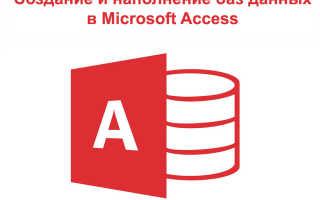 Инструкция access 2020