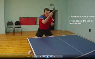 Обучение настольному теннису видео уроки