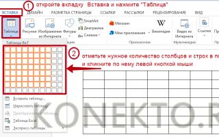Как сделать широкую таблицу в word