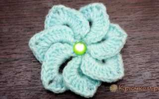 Вязание крючком цветы мастер класс видео