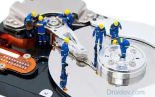 Форматирование жесткого диска через флешку