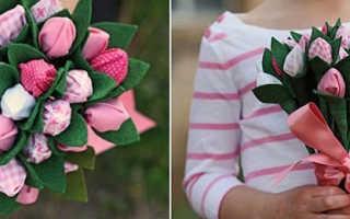 Цветы из конфет видео мастер класс