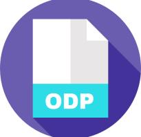 Как открыть файл odp в powerpoint