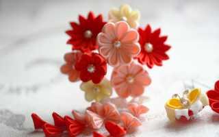 Цветы канзаши мастер класс видео для начинающих